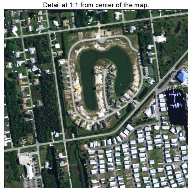 Aerial Photography Map Of Charlotte Park, FL Florida