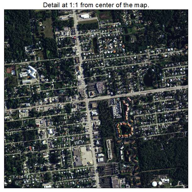 Aerial Photography Map of Englewood, FL Florida