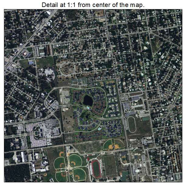 Fort Pierce, Florida aerial imagery detail