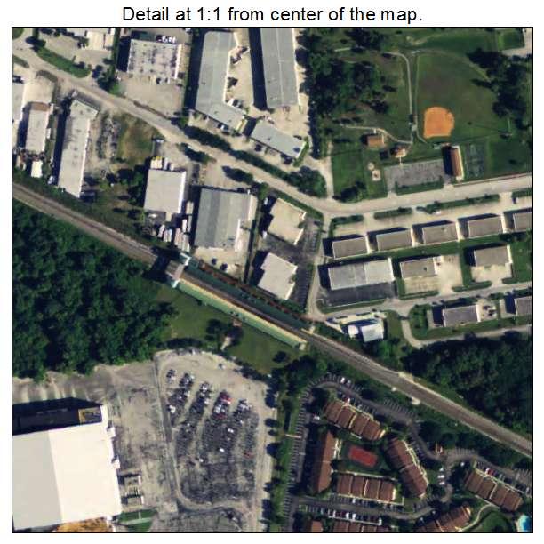 Aerial Photography Map Of Mangonia Park, FL Florida