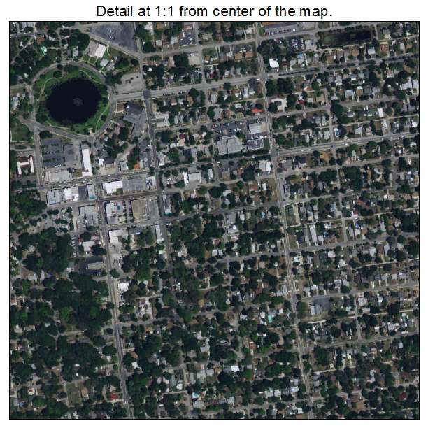 New Port Richey, Florida aerial imagery detail