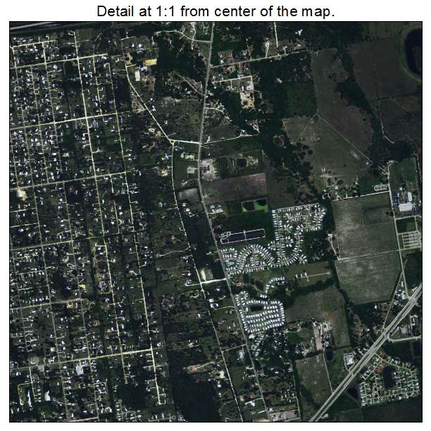 North Fort Myers, Florida aerial imagery detail