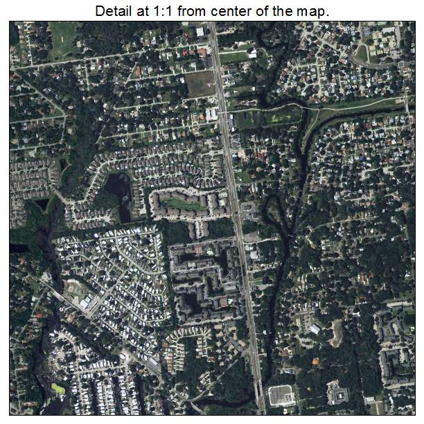 Aerial Photography Map of Town n Country FL Florida
