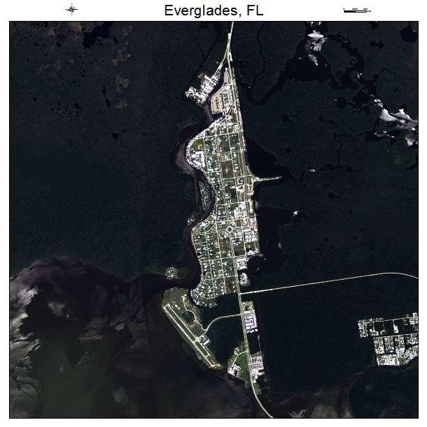 Everglades, FL air photo map