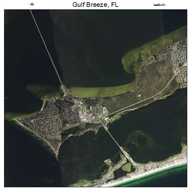 Aerial Photography Map Of Gulf Breeze Fl Florida