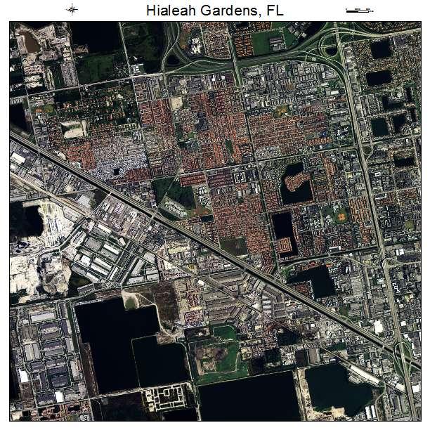 Aerial Photography Map Of Hialeah Gardens Fl Florida