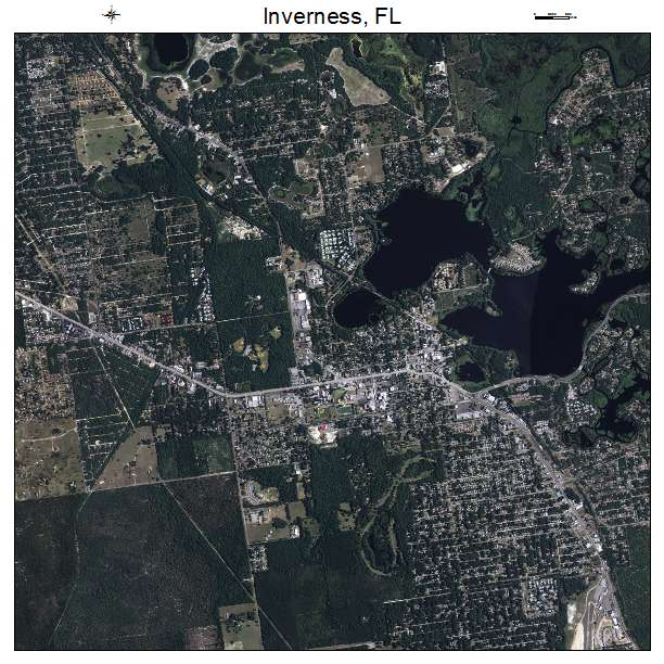 Inverness, FL air photo map