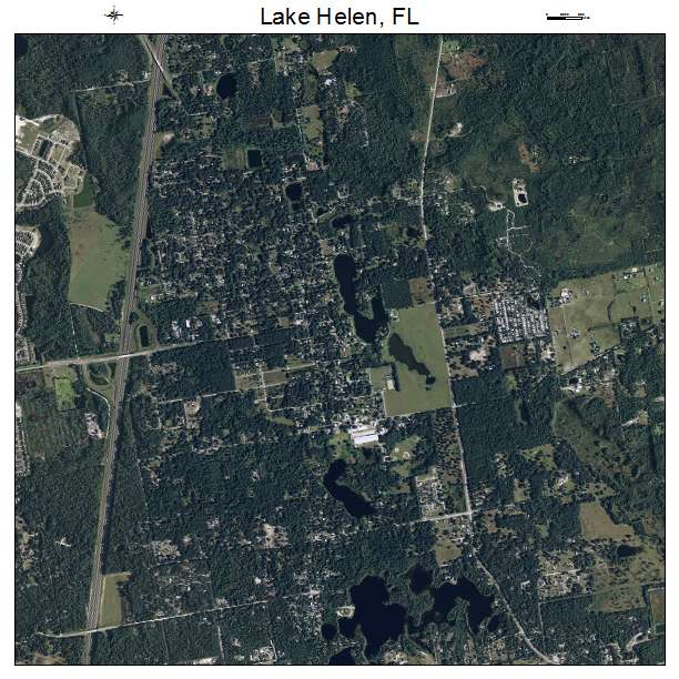 Aerial Photography Map Of Lake Helen Fl Florida