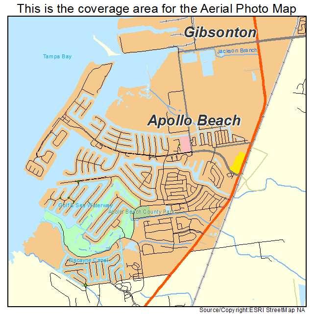 Aerial Photography Map Of Apollo Beach Fl Florida