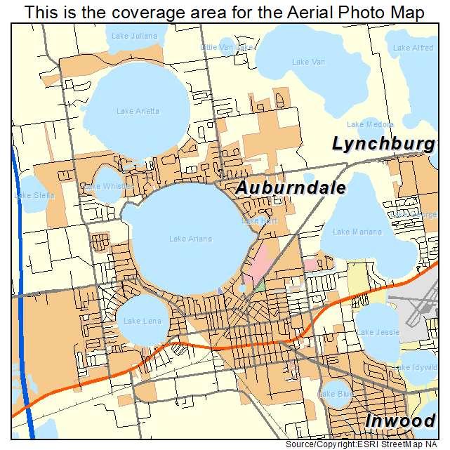 Aerial Photography Map Of Auburndale Fl Florida