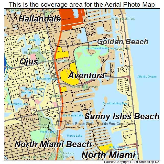Aventura Florida Map.Aerial Photography Map Of Aventura Fl Florida