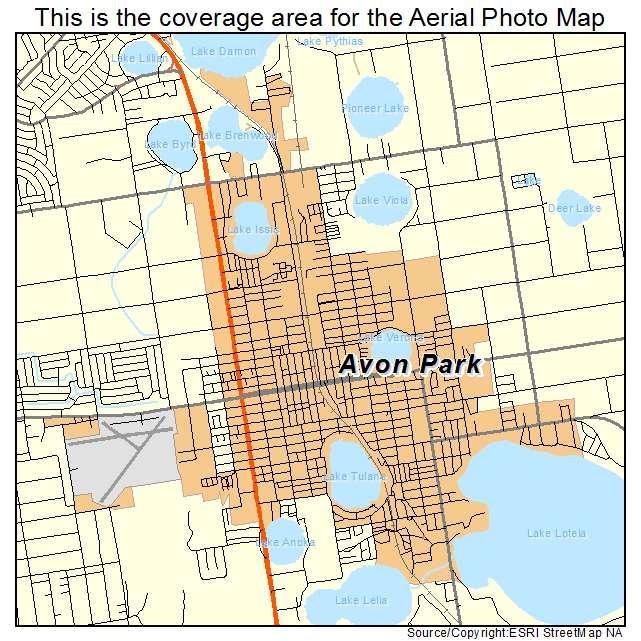 Avon Park Florida Map.Aerial Photography Map Of Avon Park Fl Florida