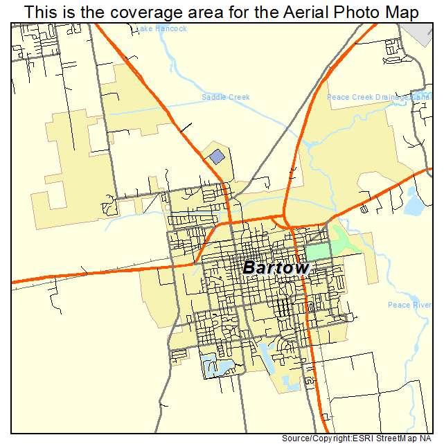 Bartow Florida Map.Aerial Photography Map Of Bartow Fl Florida