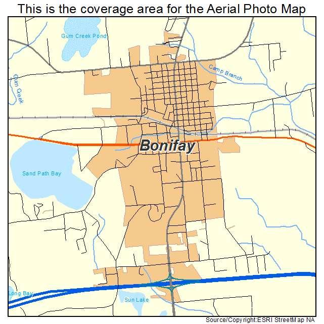 Aerial Photography Map Of Bonifay Fl Florida