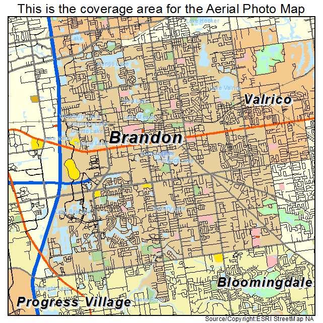 Map Of Brandon Florida Aerial Photography Map of Brandon, FL Florida