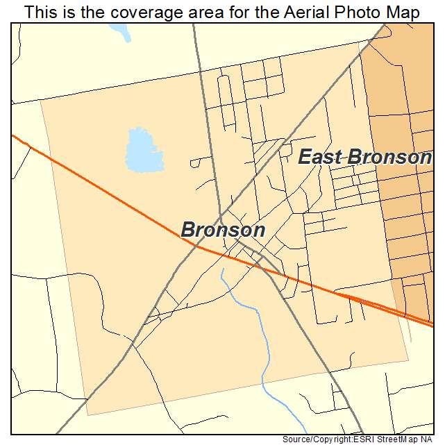 Bronson, FL Florida Aerial Photography Map