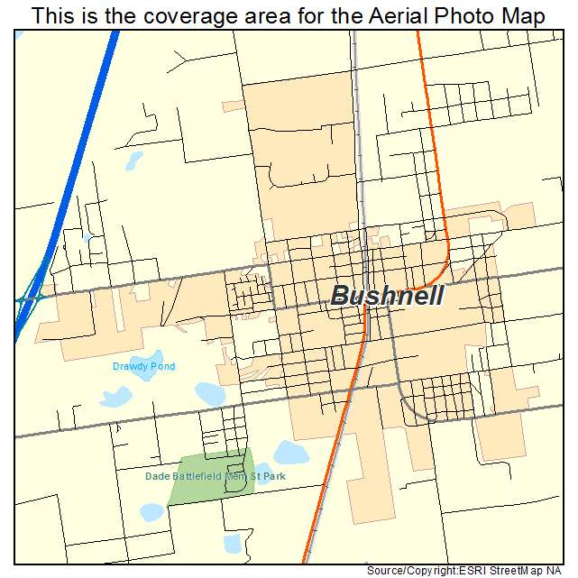 Bushnell Florida Map.Aerial Photography Map Of Bushnell Fl Florida