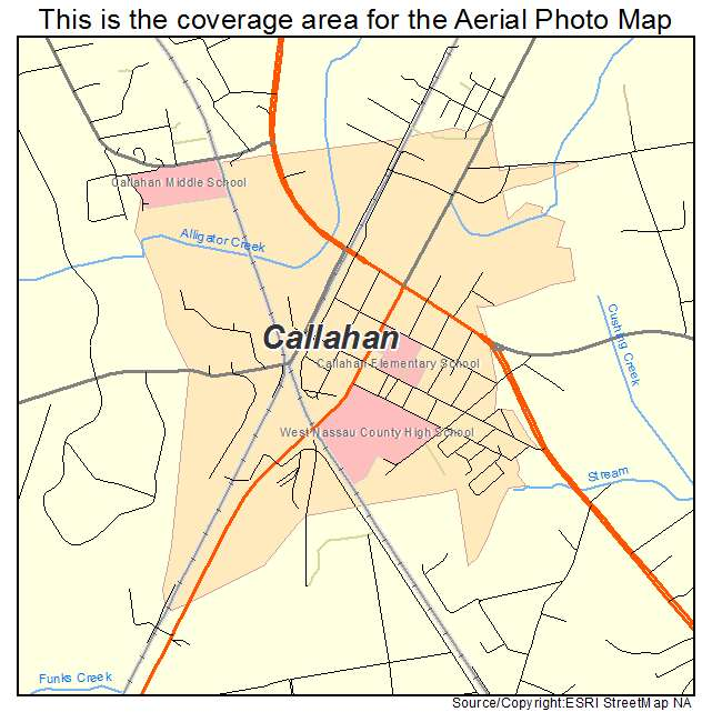 Map Of Callahan Florida Aerial Photography Map of Callahan, FL Florida