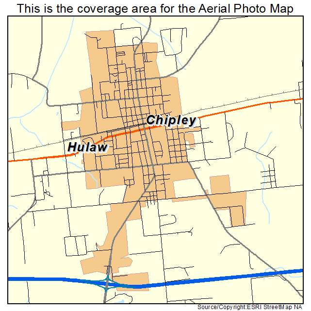 Chipley Florida Map.Aerial Photography Map Of Chipley Fl Florida