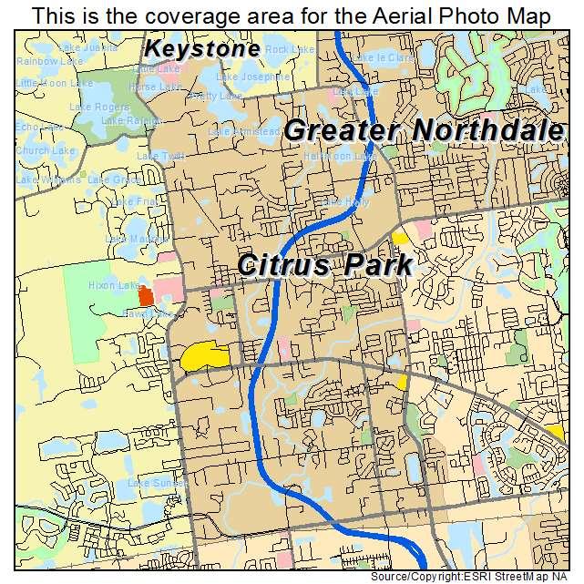 Aerial Photography Map Of Citrus Park, FL Florida