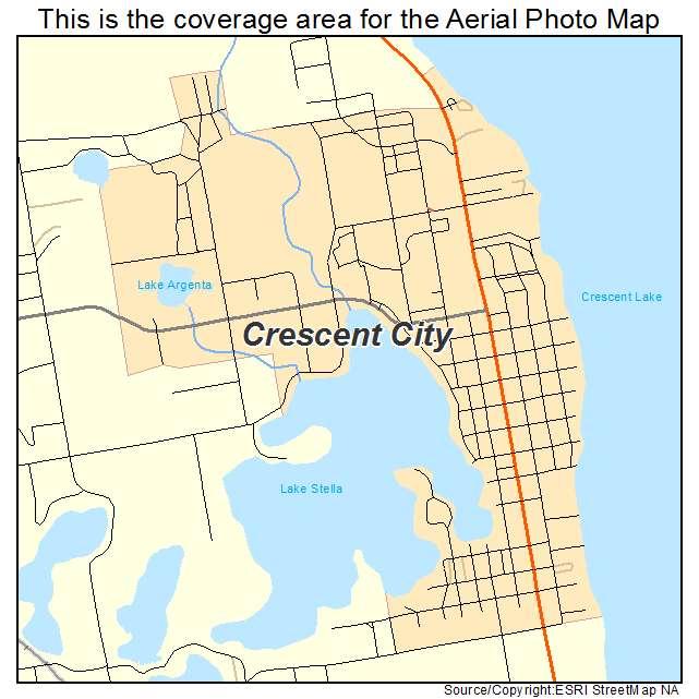 Crescent City Florida Map