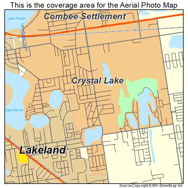Crystal Lake Florida Map.Aerial Photography Map Of Crystal Lake Fl Florida