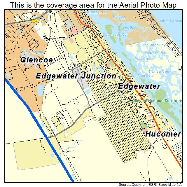 Edgewater Florida Map.Aerial Photography Map Of Edgewater Fl Florida