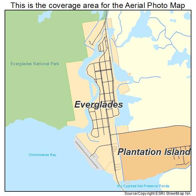 Everglades, FL location map