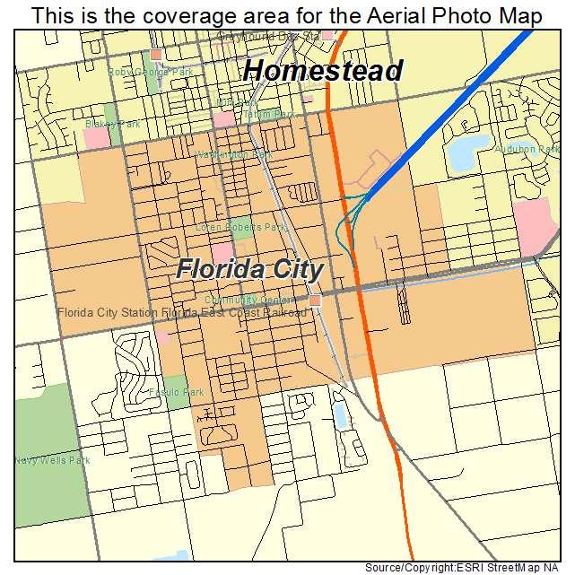 florida city map:
