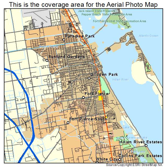 Aerial Photography Map of Fort Pierce, FL Florida