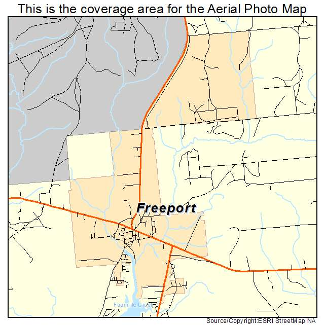 Aerial Photography Map Of Freeport FL Florida