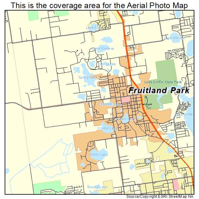 Aerial Photography Map Of Fruitland Park, FL Florida