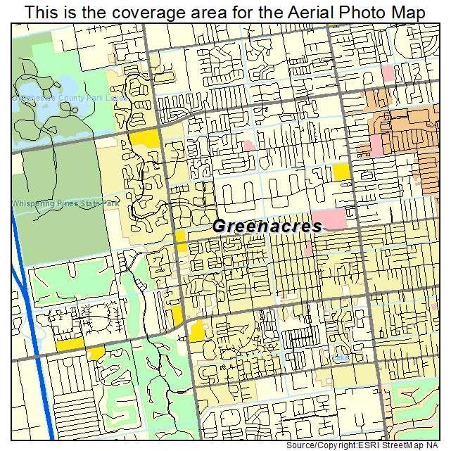 Green Acres Florida Map Aerial Photography Map of Greenacres, FL Florida