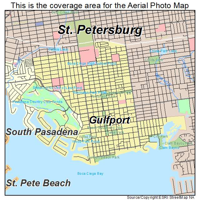 gulfport florida map