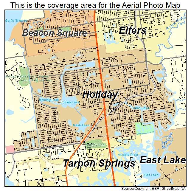 Holiday Florida Map.Aerial Photography Map Of Holiday Fl Florida