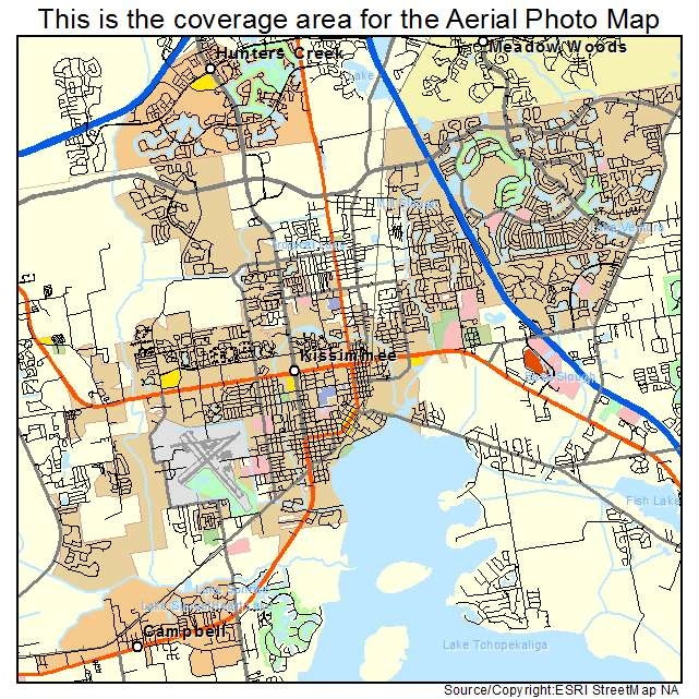 Kissimmee Florida Map.Aerial Photography Map Of Kissimmee Fl Florida