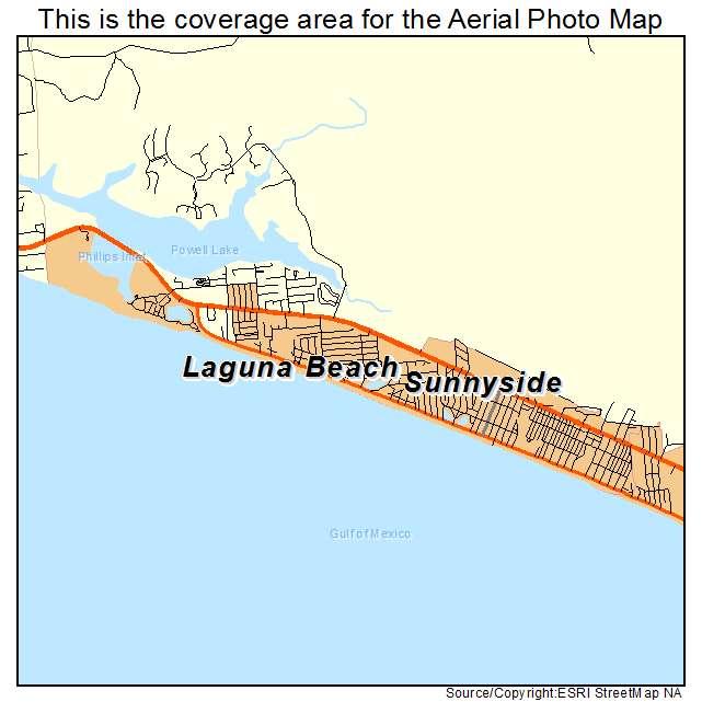 Laguna Beach Florida Map.Aerial Photography Map Of Laguna Beach Fl Florida