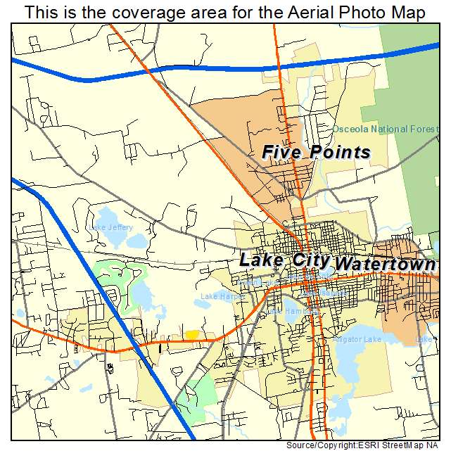 Lake City Florida Map.Lake City Florida Map Bnhspine Com