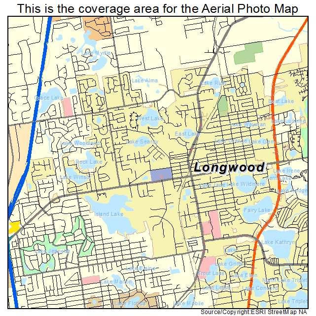 Longwood Florida Map.Aerial Photography Map Of Longwood Fl Florida