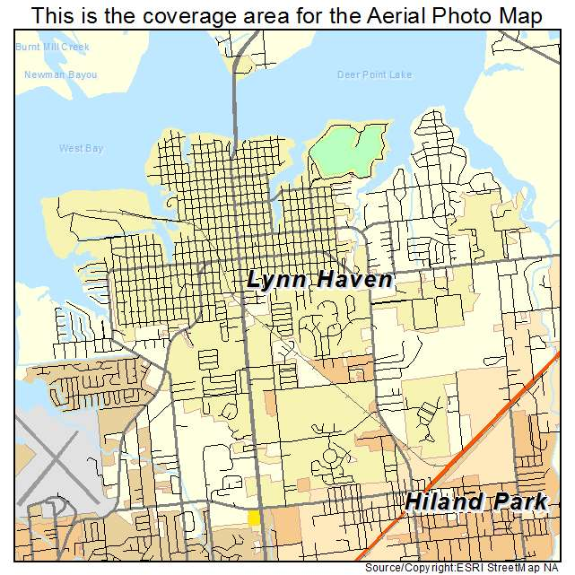 Map Of Lynn Haven Florida.Aerial Photography Map Of Lynn Haven Fl Florida