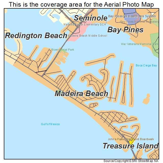 Aerial Photography Map Of Madeira Beach Fl Florida