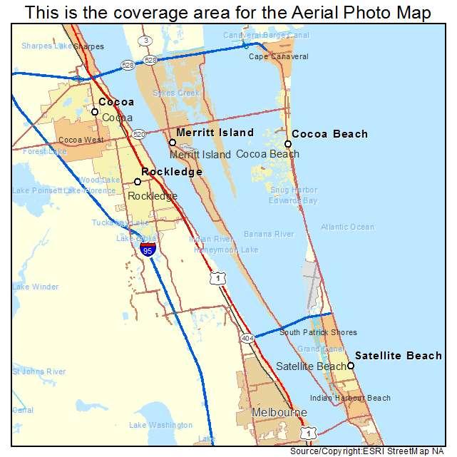 Merritt Island Fl Map Aerial Photography Map of Merritt Island, FL Florida