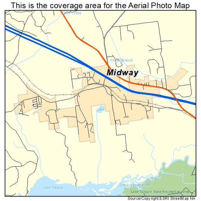 Midway Florida Map.Aerial Photography Map Of Midway Fl Florida