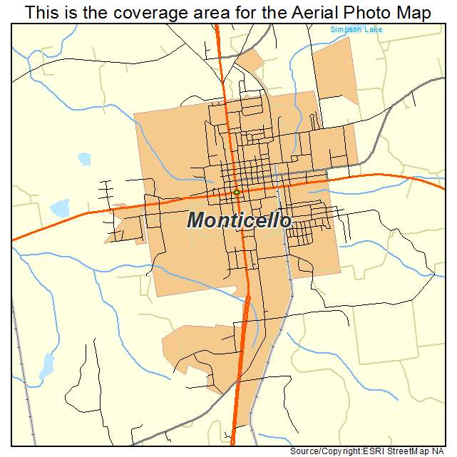 Aerial Photography Map Of Monticello Fl Florida