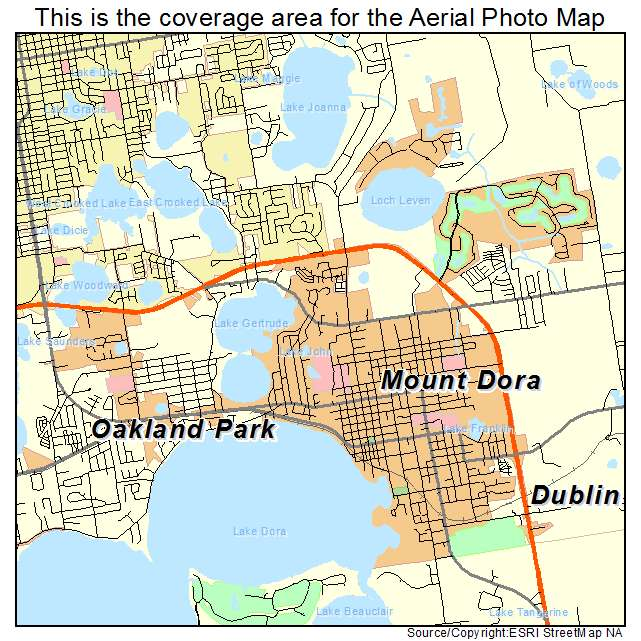 florida map with mount dora