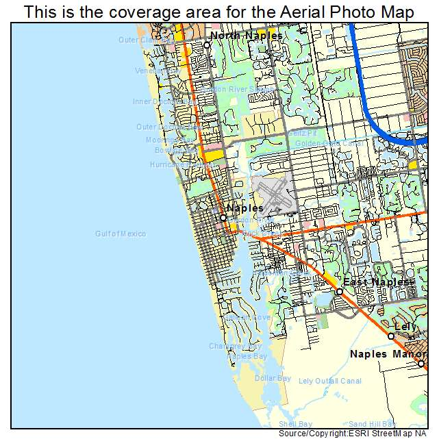 Aerial Photography Map Of Naples Fl Florida