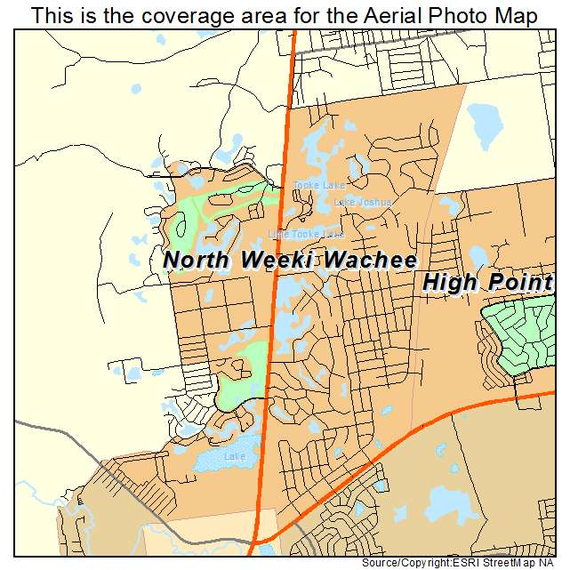 Aerial Photography Map Of North Weeki Wachee Fl Florida