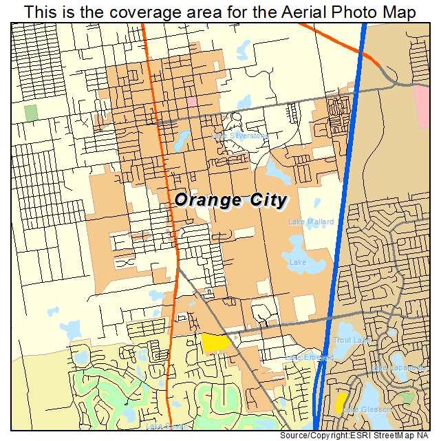 Orange City Florida Map.Aerial Photography Map Of Orange City Fl Florida