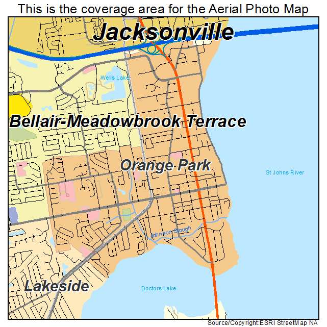 Aerial Photography Map Of Orange Park Fl Florida