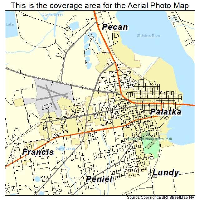 Palatka Florida Map.Aerial Photography Map Of Palatka Fl Florida
